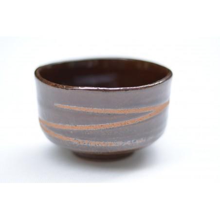 Bol brun en céramique