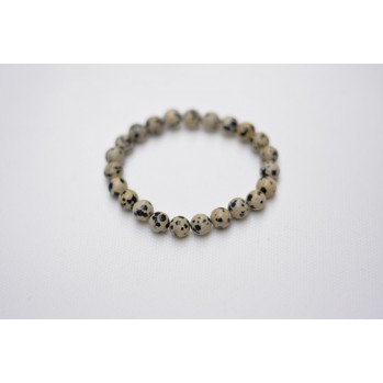 Mala bracelet en jaspe dalmatien