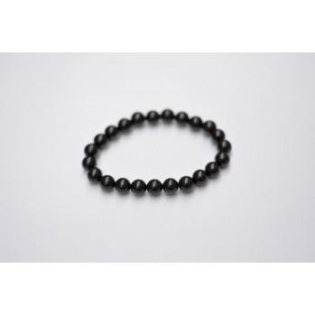 Mala bracelet en tourmaline noire