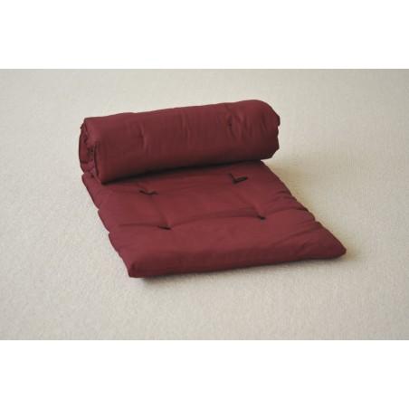 Futon de massage Shiatsu avec sac bordeaux