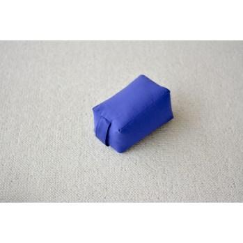 Mini-zafu brique bleu roi (épeautre)