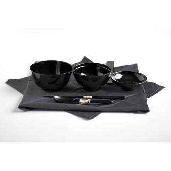 Set de 3 bols avec furoshiki et couverts