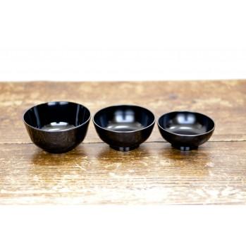 Set de 3 bols noirs - repas zen