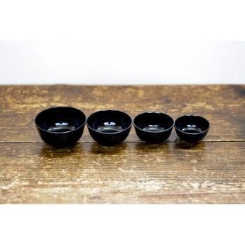 Set de 4 bols noirs - repas zen