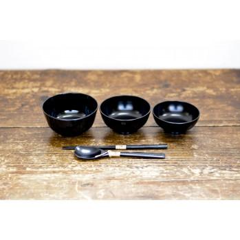 Set de 3 bols avec couverts - repas zen