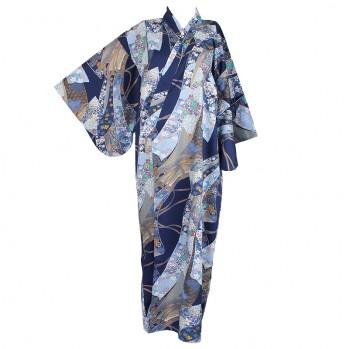 """Yukata-kimono """"Rubans bleus"""""""