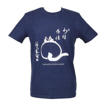 """t-shirt Unisexe Bio """"le chat zen"""""""