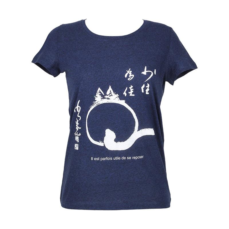 """t-shirt Femme Bio """"le chat zen"""""""