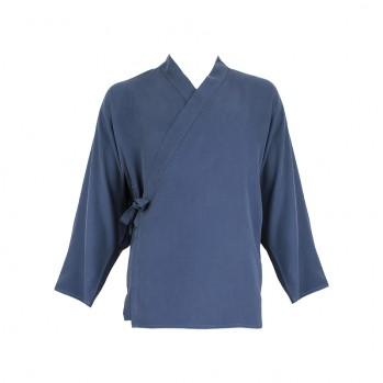 Veste samue fibre d'eucalyptus - Bleu