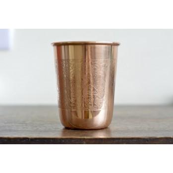 Tasse ayurvédique en cuivre gravé