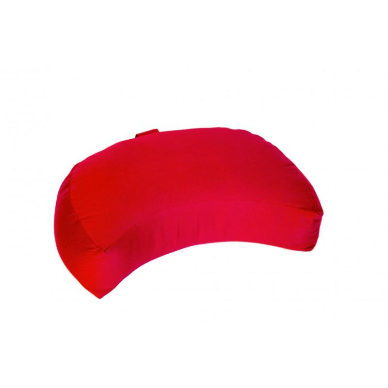 Zafu demi-lune (kapok) rouge