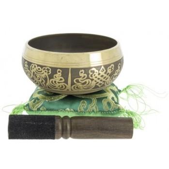 bol chantant tibétain 10 cm alliage 7 métaux