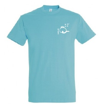 t-shirt bleu unisexe bio