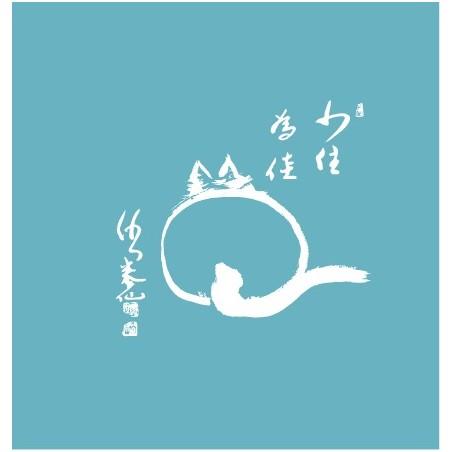 Tee shirt bleu Le chat zen