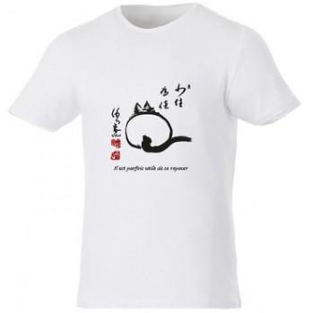 """t-shirt blanc unisexe bio """"le chat zen"""""""