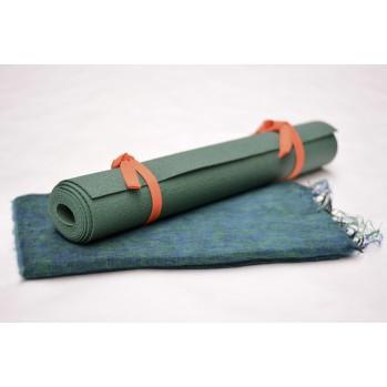 Châle de méditation / tapis de yoga - vert émeraude
