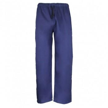 pantalon bleu en coton bio