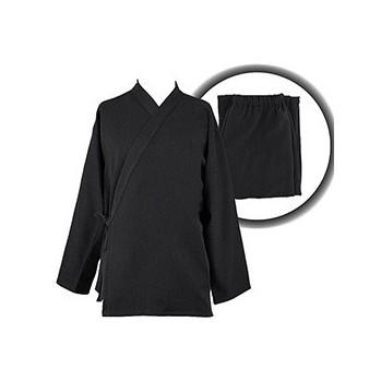ensemble samue veste pantalon coton solide noir