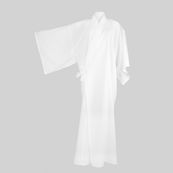 Kimono blanc long, vêtement pour la méditation zen, zazen