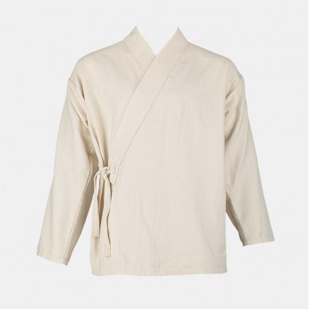veste samue écru pour le shiatsu