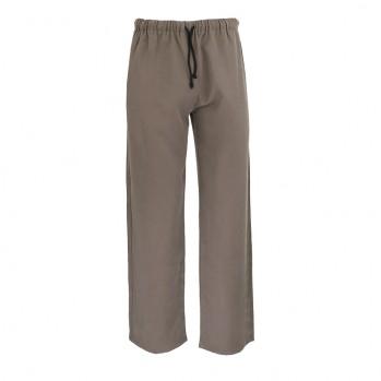 pantalon tissu léger brun