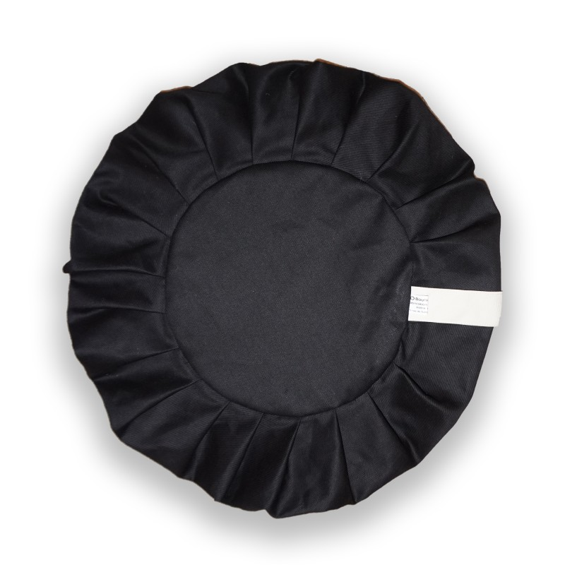 zafu haut 22 cm vide noir