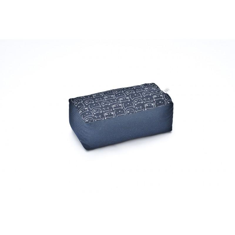 zafu rectangle Chats Tissu japonais Imprimés bleu