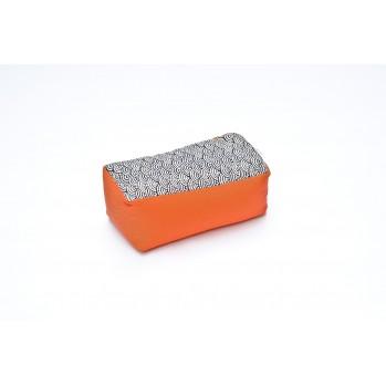 Zafu rectangle épeautre Koï Tissu japonais Imprimés orange