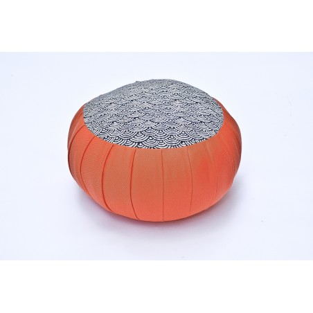 zafu standard kapok Imprimés tissu japonais orange