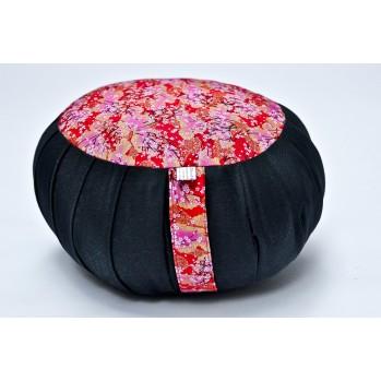zafu standard kapock Imprimés tissu japonais noir rouge