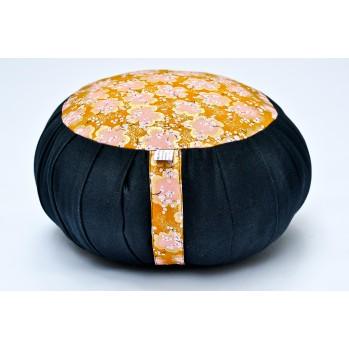 zafu standard kapok Imprimés tissu japonais noir or