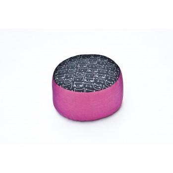 zafu épeautre bio Chats Imprimés tissu japonais rose bleu marine