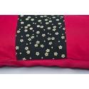 zafuton Imprimés tissu japonais noir bordeaux
