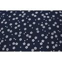 Imprimés tissu japonais noir fleurs