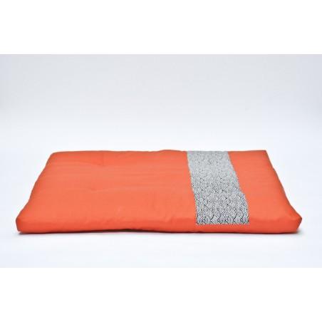zafu et zafuton Imprimés japonais orange bleu marine