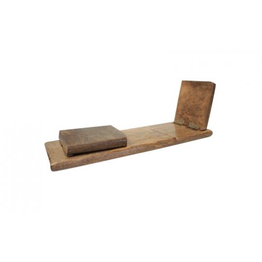 banc de m ditation pliable en bois naturel de manguier facile transporter. Black Bedroom Furniture Sets. Home Design Ideas
