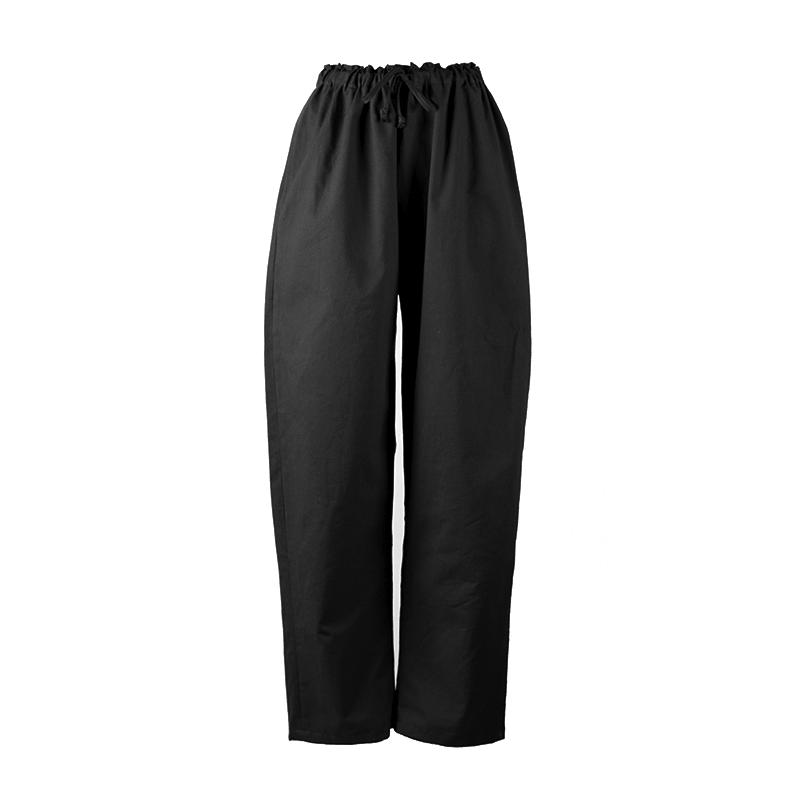Pantalon noir en coton bio