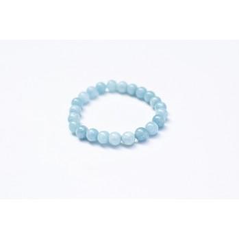 Mala bracelet en quartz bleu, 10 mm