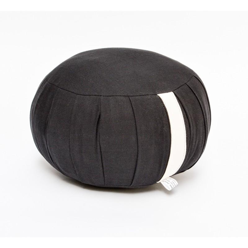 zafu standard kapok noir tissu bio