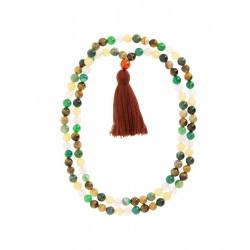 Mala Agates d'Inde 108 perles
