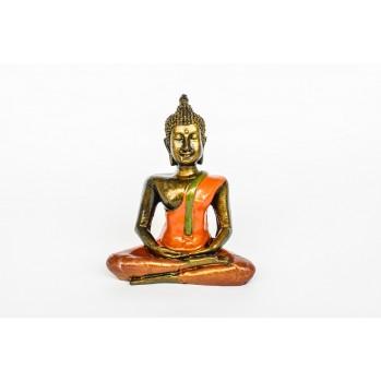 Bouddha en bois peint, 12,5 cm