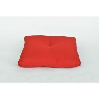 Coussin rouge pour réhausser le zafu