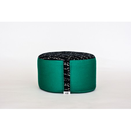 Zafu épeautre bio Iruwa, vert, tissu japonais