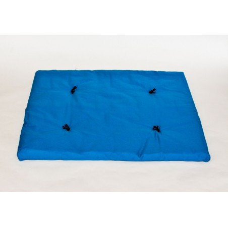 Zafuton de voyage bleu turquoise