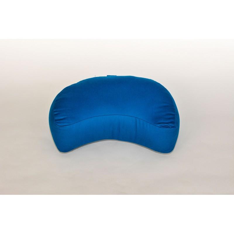 Zafu demi-lune (kapok) bleu turquoise