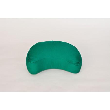 Zafu demi-lune (kapok) vert émeraude