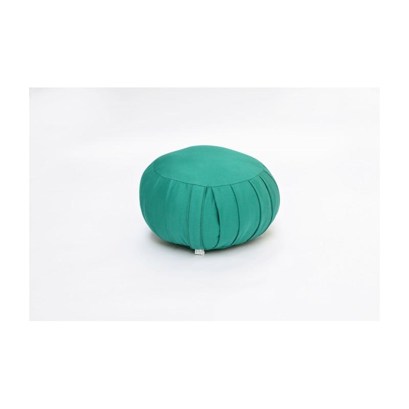 Zafu petit modèle (kapok) bleu turquoise