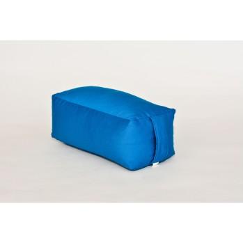 Zafu rectangulaire (épeautre) bleu turquoise pour la méditation