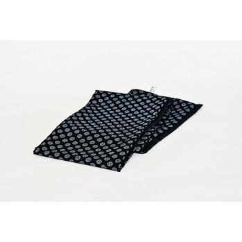 Écharpe Petite fleur doublée, bleu marine