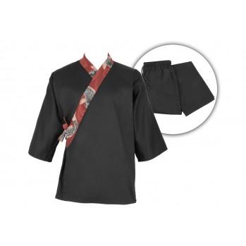 Ensemble samue Koï, 100 % coton, noir, Série limitée